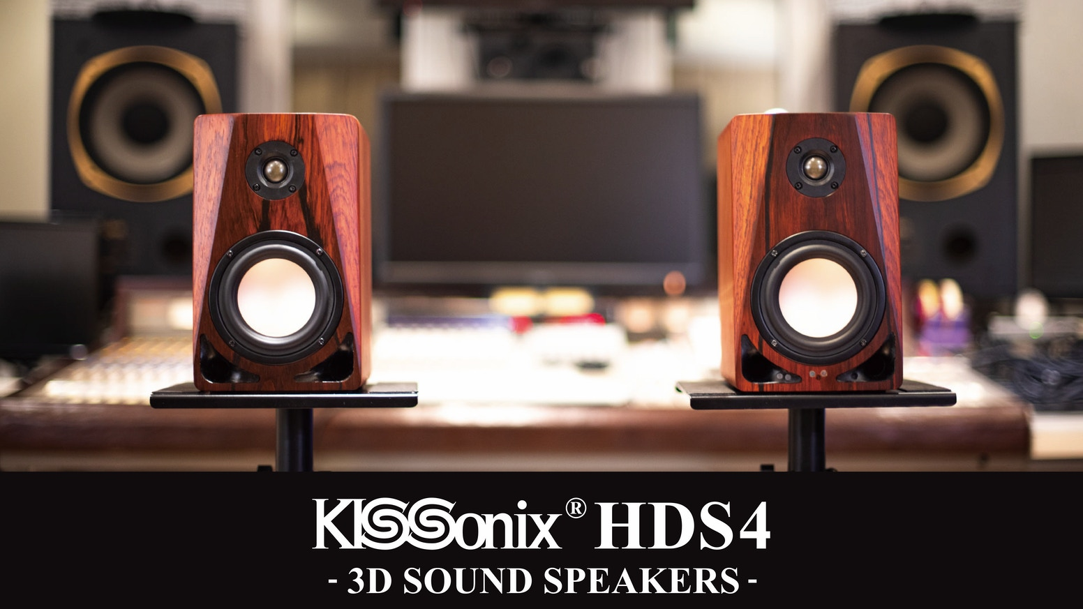 "The world's first HDMI-Compatible 3D Sound Active Speakers equipped with ""KISSonix HDFX"", the innovative 3D sound technology."