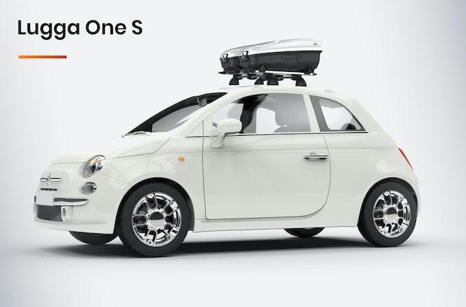 Our smaller model Lugga is capable of fitting smaller automobiles and carrying up to 2 suitcases.