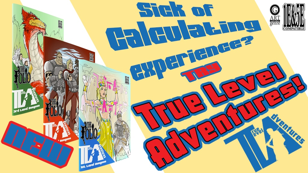 True Level Adventures for 1E and 5E gaming project video thumbnail
