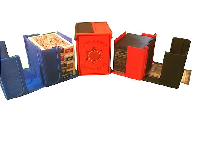 Holds 100+ sleeved cards OR 4+ standard card decks