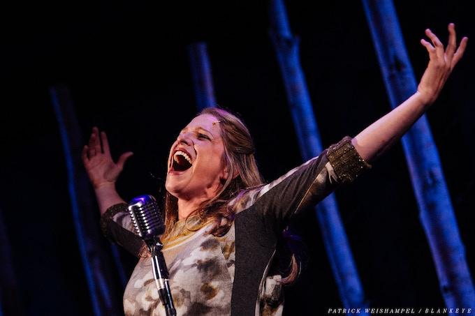 Merideth Kaye Clark in Winter Song. Photo by Patrick Weishampel.