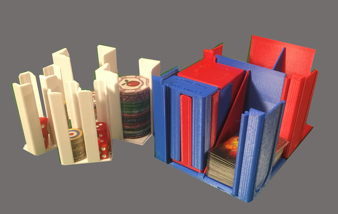 Keep mini-cards, dice, tokens, chips and more under control with our ModPack!