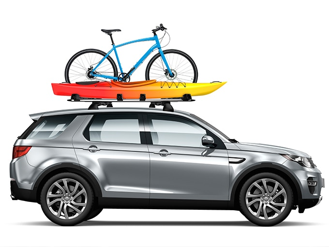 Lugga is not only designed for its modular suitcases, but also allows you to secure kayaks, surfboards, bikes and more.