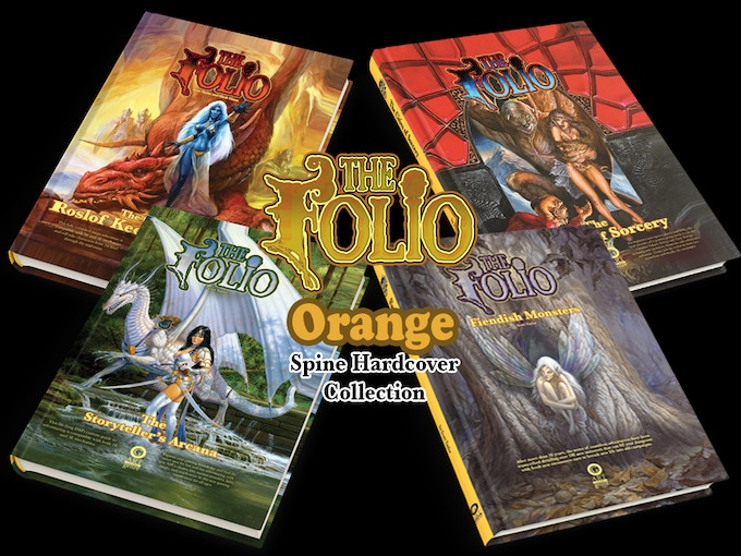 Some of the 'orange spine' hardcover compendiums from AotG