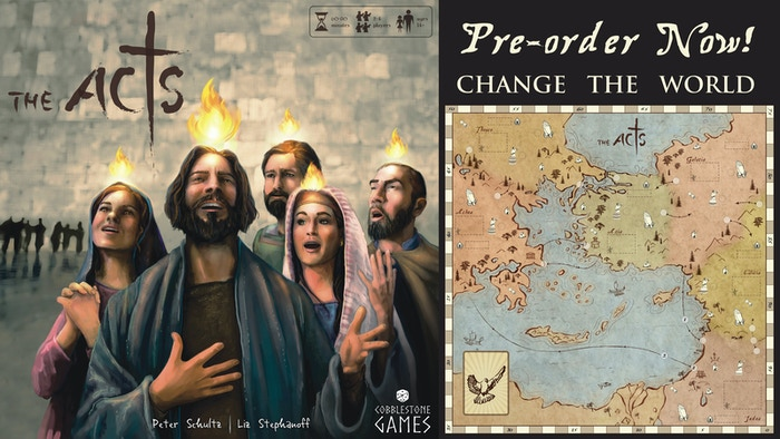 Help the early church spread out from Judea throughout the Roman Empire in this simple, yet strategic, worker placement board game.