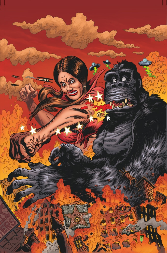 """Issue #1 Main Cover Art by Troy Nixey, artist of """"Real-Life World's Finest,"""" written by Patton Oswalt"""
