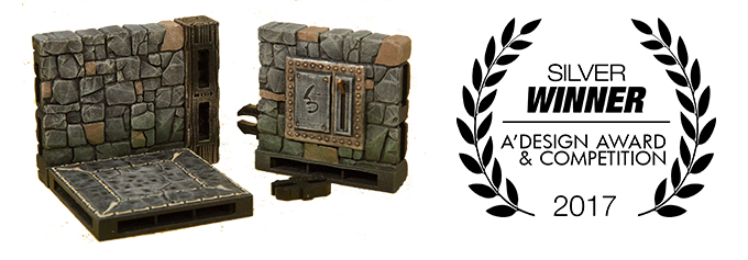 Rampage Dungeons won a Silver in 2017 at the international A'design award in Europe