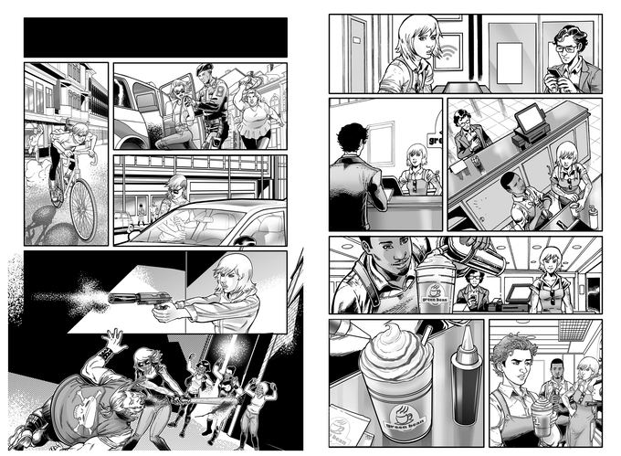 A glimpse at Trinity's past and present in these GANGSTER ASS BARISTA interior pages