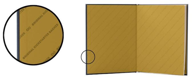 Golden Edition End Sheet Mockup
