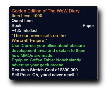 The World of Warcraft Diary by John Staats — Kickstarter