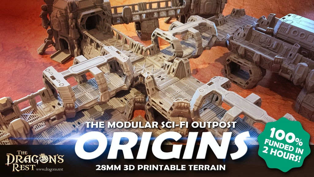 3D Printable Sci-Fi Modular Outpost project video thumbnail