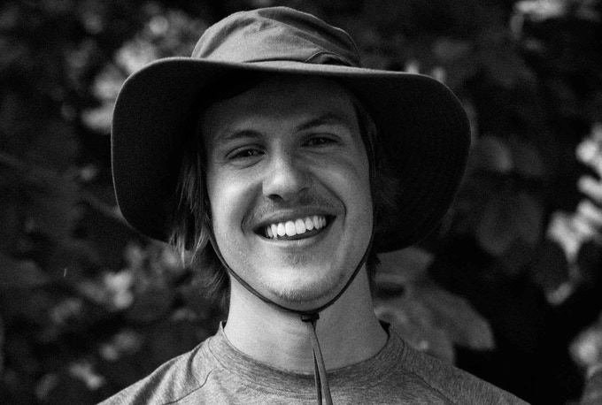 Nico Walz, a German outdoor film producer, who loves river-surfing himself. The man behind the camera and co-producer of the documentary.
