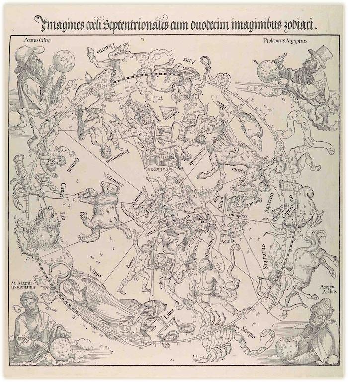 The Celestial Map - Northern Hemisphere, Albrecht Dürer(1515)