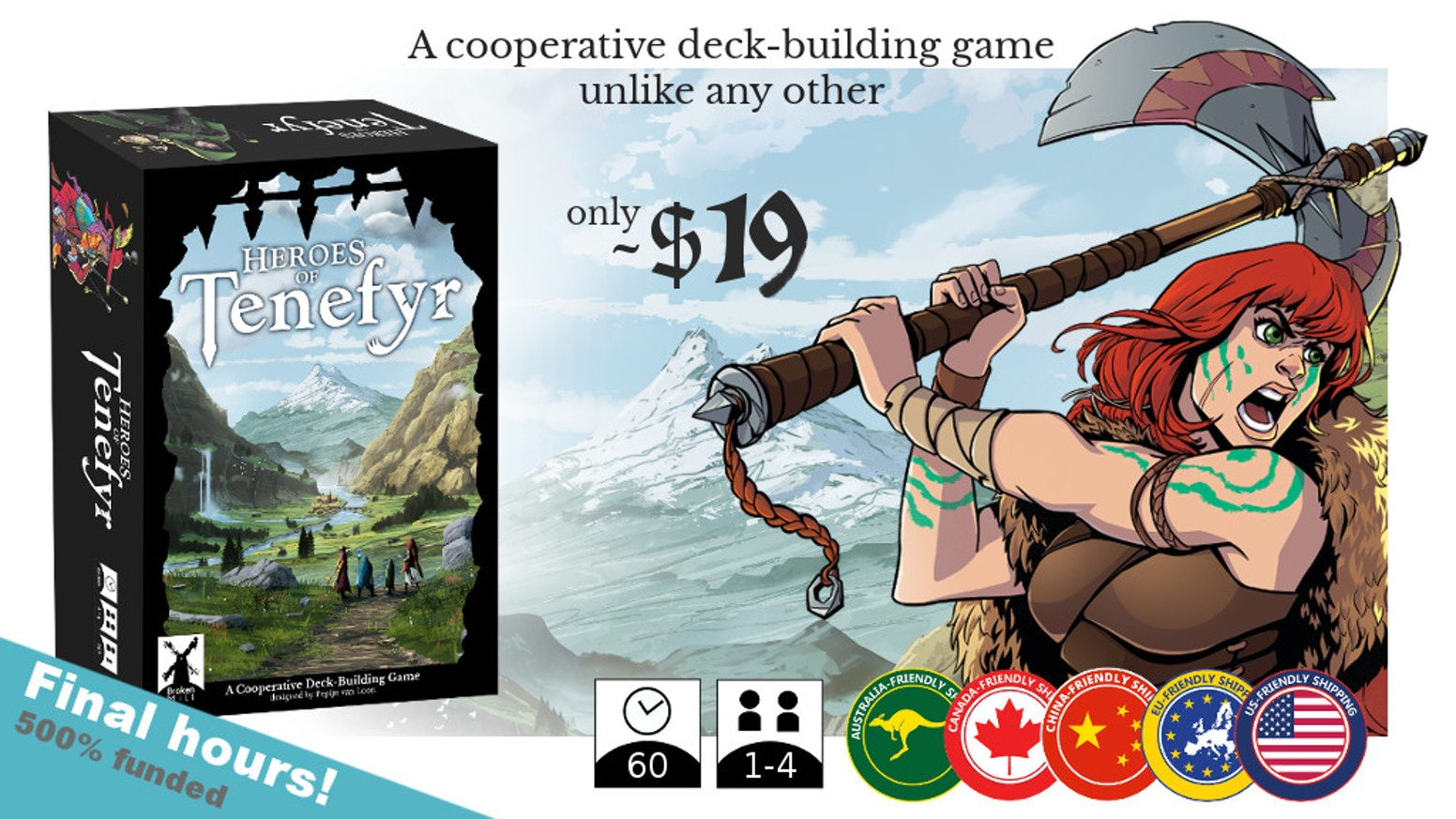 A cooperative deck-building game for 1-4 players with push your luck elements and a different approach to deck-building.