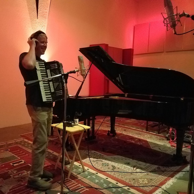 James and his fun accordion.  See video above for more on that........