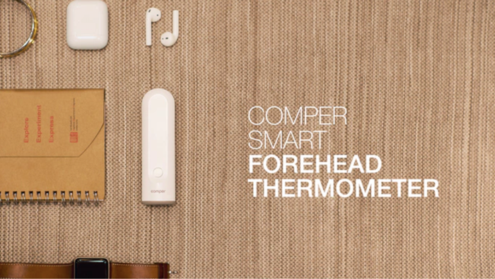A unique  smart forehead thermometer with unlimited user functions that will help you get track, record, analyze and use your body data