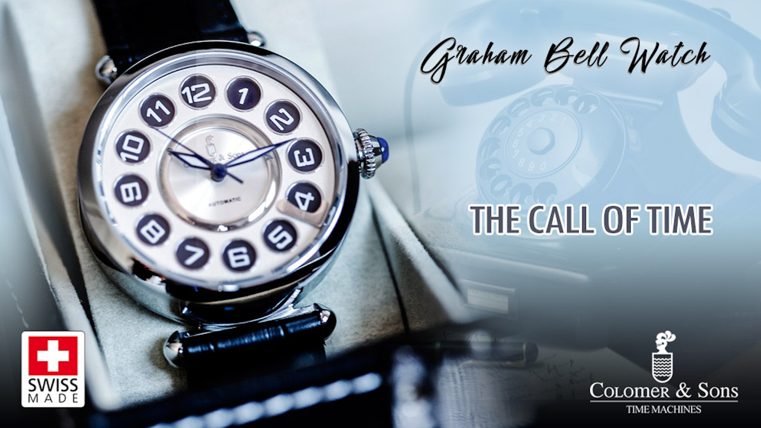 Commemorating Graham Bell's telephone invention, a Swiss watch with Sapphire crystal, full night vision, Automatic movement and more ..