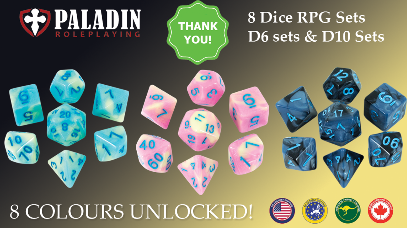a66799be Gorgeous RPG Dice Sets for DnD and other roleplaying games. Missed the  Kickstarter? No problem! Visit our website for lots of dice loveliness -