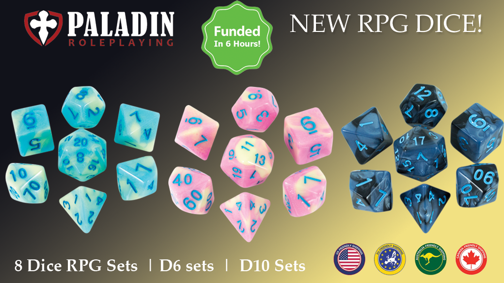 Gorgeous RPG Dice Sets for DnD and other roleplaying games is the top crowdfunding project launched today. Gorgeous RPG Dice Sets for DnD and other roleplaying games raised over $7521 from 0 backers. Other top projects include Aphelion™ Playing Cards - Black edition -, OASI KYOTO   Eat Local, Travel Global, TV PLUS. TV für dich und mich. / TV for you and me....