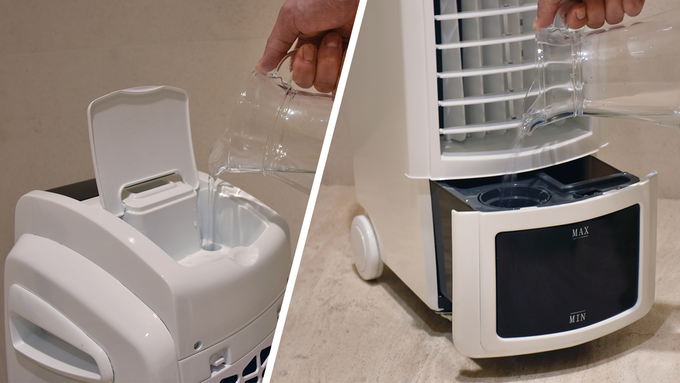 Fill the Quilo 2.0 with water through the top, or in the drawer