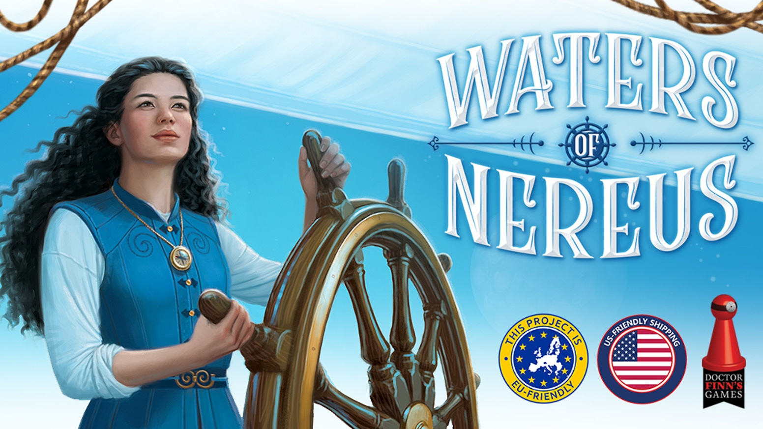 Sail the high seas of Nereus, a fantasy water world rich with treasures! From the designer of Biblios and illustrated by Beth Sobel.