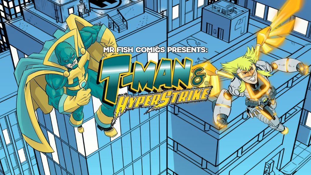 T-Man & HyperStrike! A comic book about Tourette's & ADHD project video thumbnail