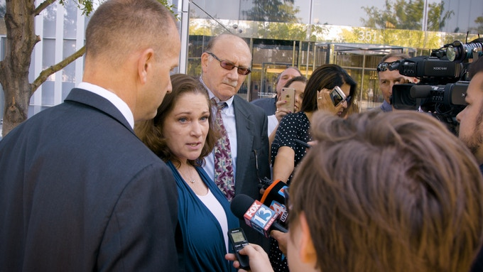 McKenna is interviewed by the press after her Oral Arguments - 7.18.18