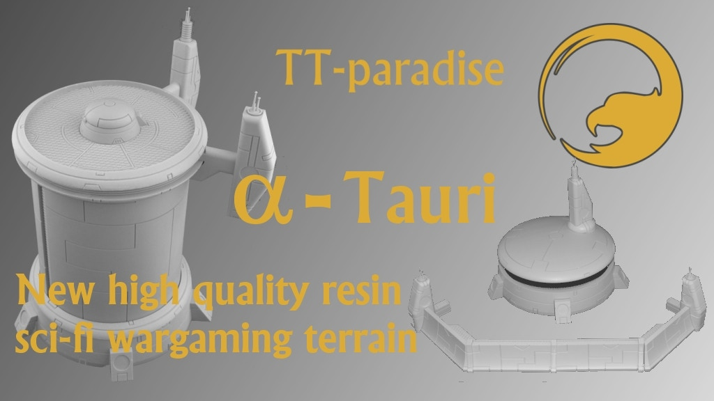 Project image for Alpha-Tauri sci-fi tabletop terrain