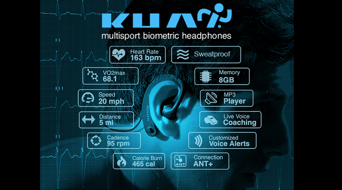 KUAI are the only multi-sport smart headphones to automatically measure your body/performance during any sport, providing adaptive real-time voice coaching.