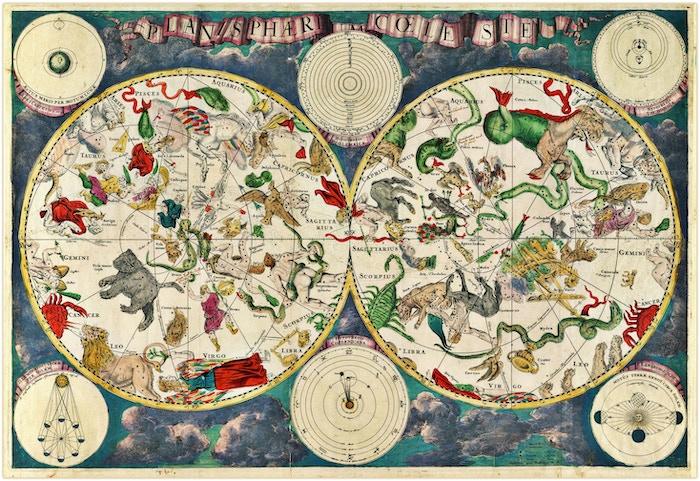 Celestial Map by Frederik de Wit (1670)