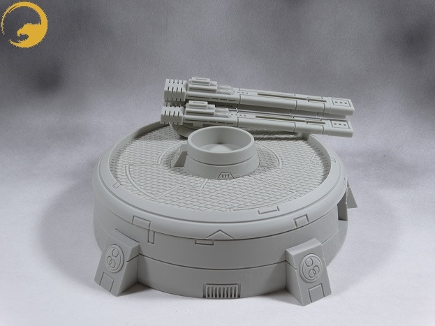 Picture 10: You can easily remove the 3-gun turret to replace it with another one you own