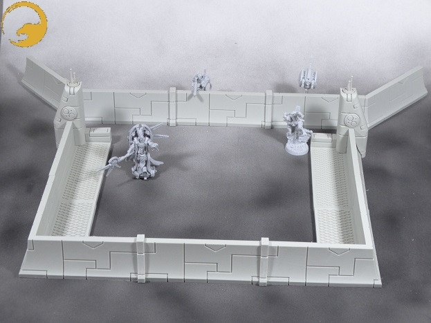 Picture 14: With this set, you can also build 2 different defense lines