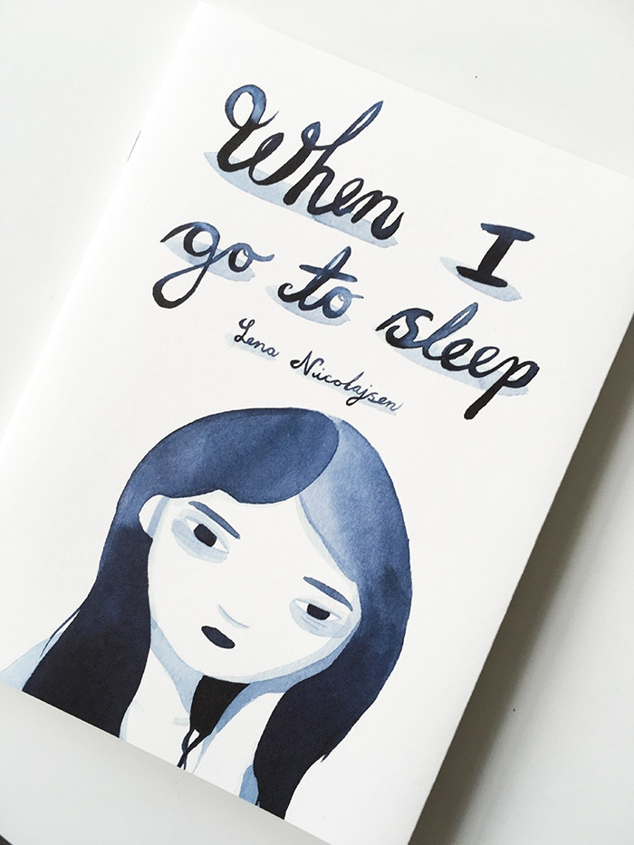 """""""when I go to sleep"""" a graphic short story about a night I struggled with insomnia, not helped at all by modern technology and social media. Now out in the world, thanks to my backers <3 Available in my webshop."""