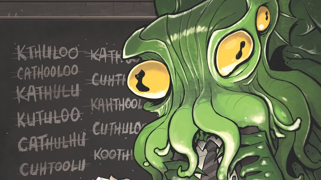 Cthulhu is Hard to Spell: A comic anthology about Lovecraft project video thumbnail