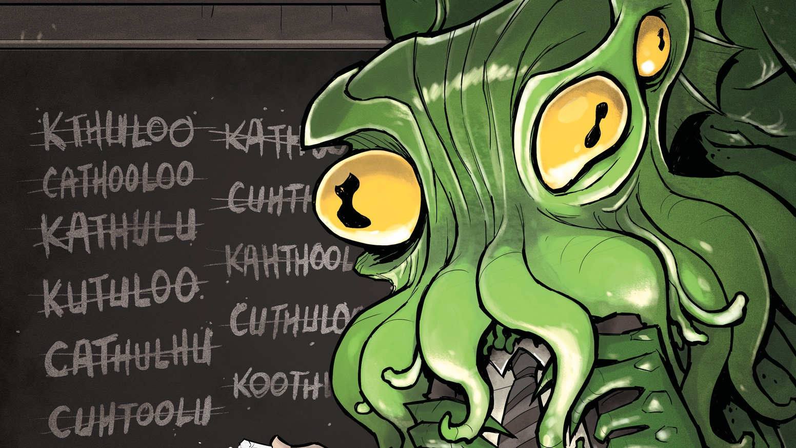 A love letter to Lovecraft. A comic anthology with thirty-five awesome stories about Lovecraftian gods and monsters, from fans to fans.