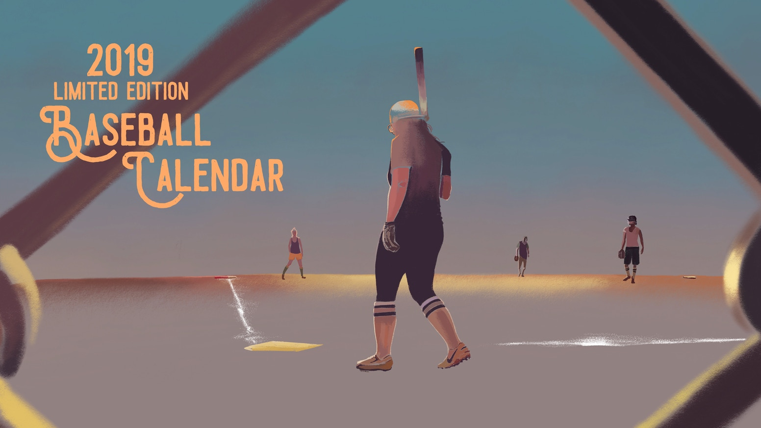 This winter, get your gloves on a vibrant and colourful limited edition 2019 baseball calendar!