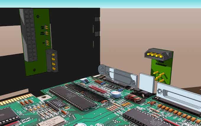 Amiga basic internal SFX PSU connection system.