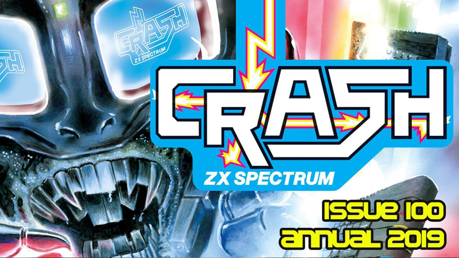 Issue 100 of the mighty Crash magazine for the ZX Spectrum  - Happy Birthday Crash!