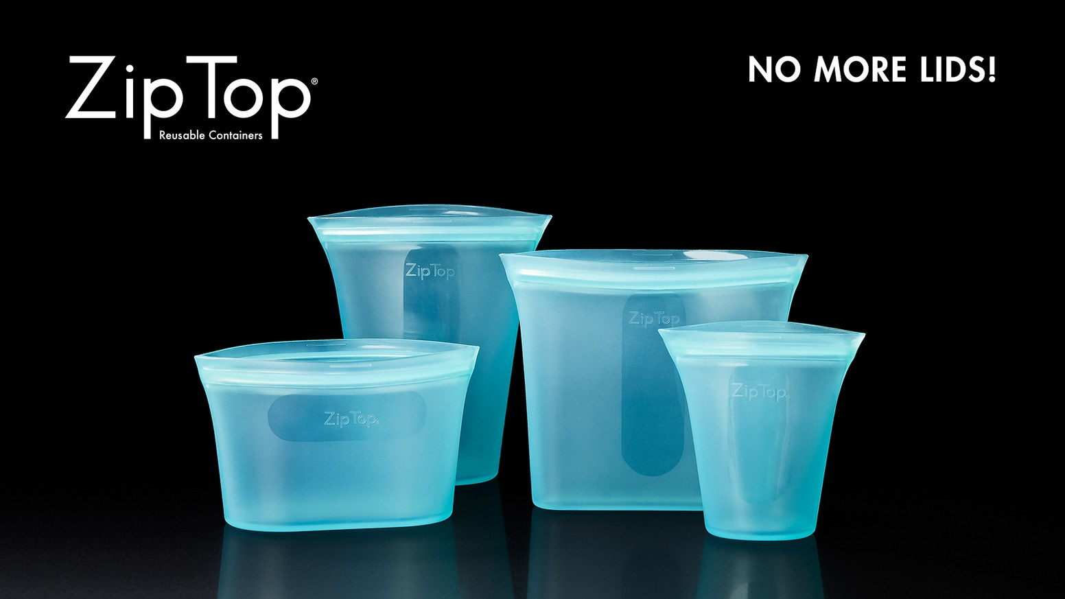 Zip Top® Reusable Containers Stand Up, Stay Open & Zip Shut