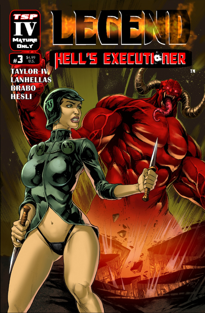 Legend: Hell's Executioner #3 Cover A by Alexandre Nascimento (Pencil/Inks) and Periya Pillai (Colorist)
