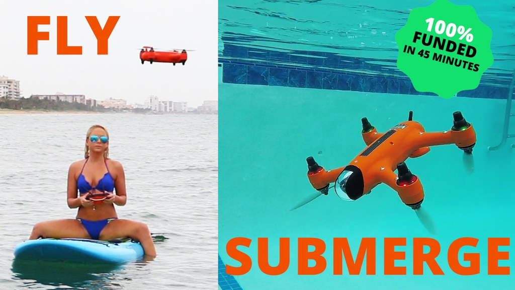 SPRY: A waterproof drone that submerges under water & flies project video thumbnail