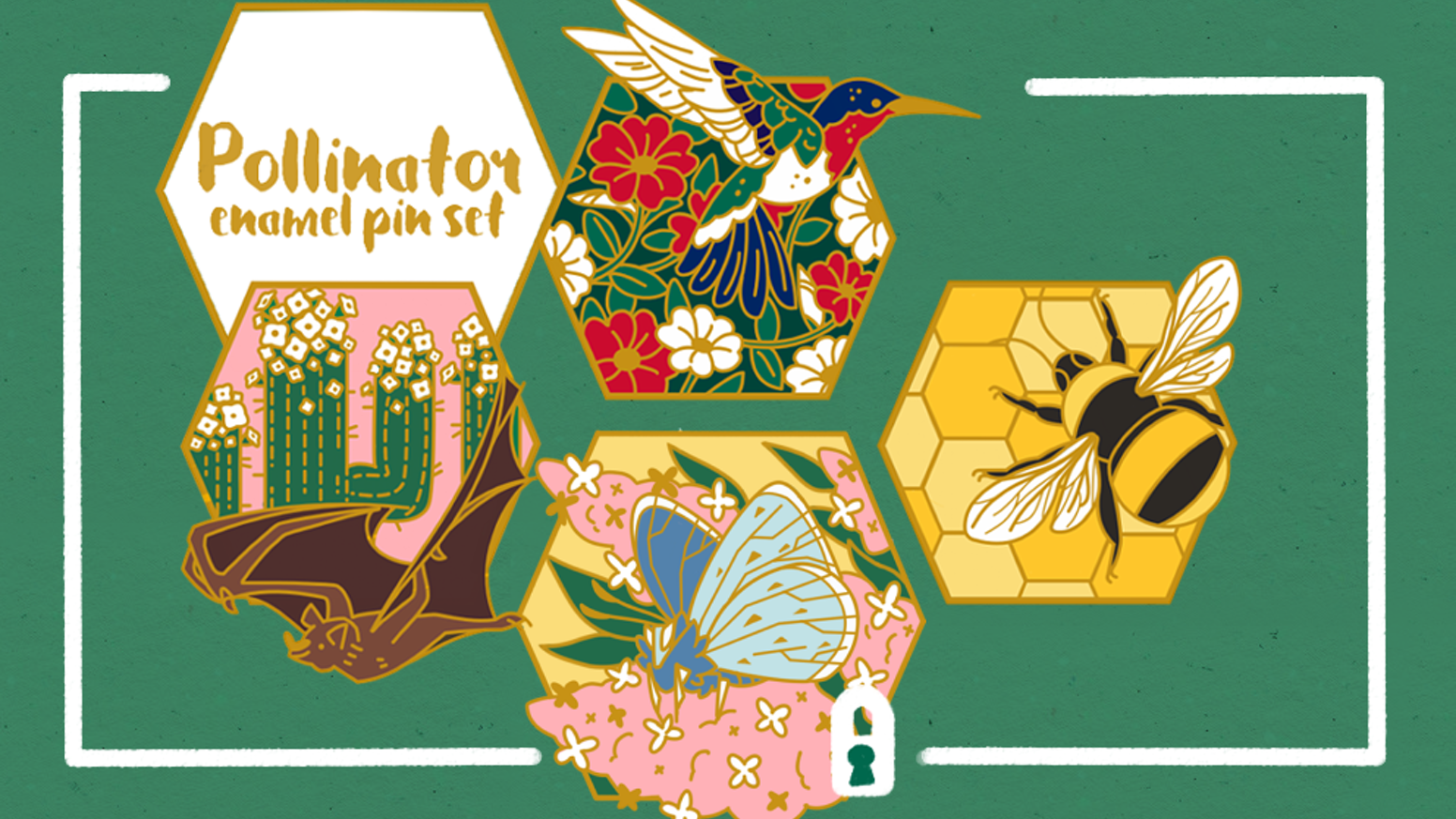 Pollinator Hard Enamel Pins by Caitlyn Upton » Mockups and