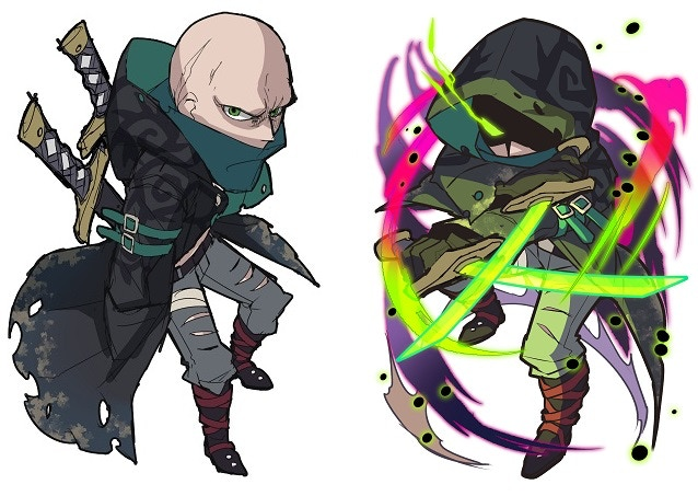 Normal Form: Suspicious Wanderer (on the left) | Awakened Form: Dark Reaper (on the right)