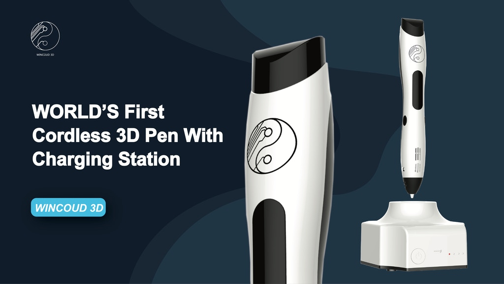 iPen: WORLD's First Cordless 3D Pen With Charging Station