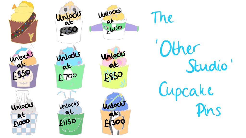 The 'Other Studio' Cupcake Enamel Pins
