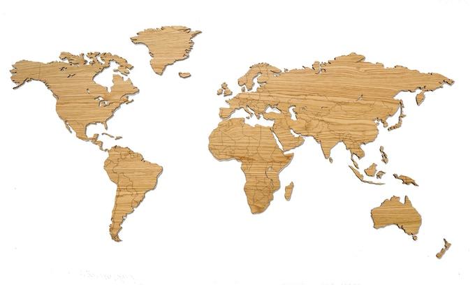 My Wooden World   Luxurious wooden world maps by Maarten van Rooyen ...