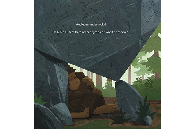 Sample illustration from inside the book.