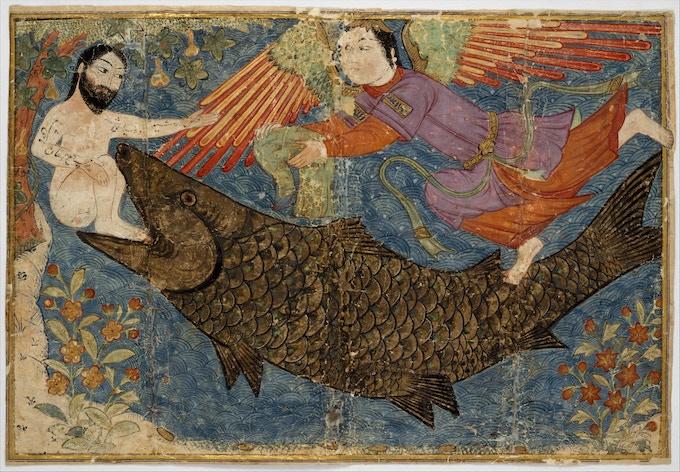 Jonah & the whale - Jami al-Tavarikh (compendium of chronicles)