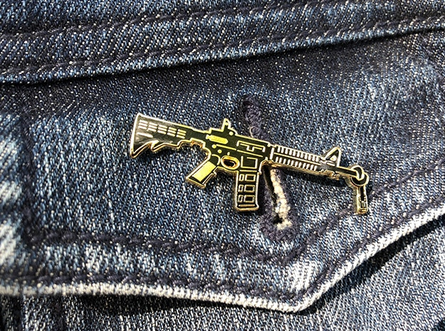 96 pins for 96 lives  Gun Control Enamel Pins by Jeremy