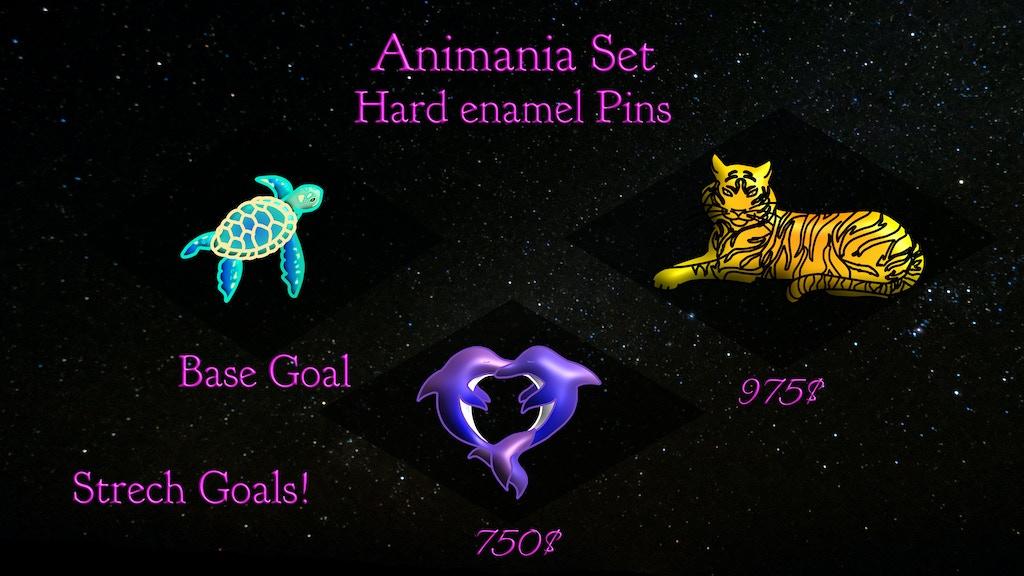 Animania Hard Enamel Pin Set! We have to love them ?
